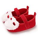 זול Kids' Flats-בנות צעדים ראשונים קנבס שטוחות תינוקות (0-9m) / פעוט (9m-4ys) חום / ורוד / אדום כהה אביב / קיץ