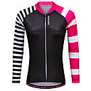 cheap Cycling Jerseys-WOSAWE Women's Long Sleeve Cycling Jersey Black Bike Jersey Top Sports Polyester Mountain Bike MTB Road Bike Cycling Clothing Apparel / Stretchy / Advanced / Advanced