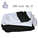 זול אביזרים למקרנים-16:9 150 אִינְטשׁ PVC מאקס לבן מסך על מעמד מהקיר