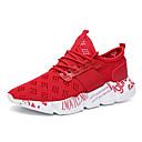 זול נעלי ספורט לגברים-בגדי ריקוד גברים אור סוליות בד גמיש אביב קיץ ספורטיבי נעלי אתלטיקה נושם לבן / שחור / אדום