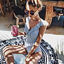 povoljno Lusteri-Žene Osnovni Plava Jednodijelno Kupaći kostimi - Prugasti uzorak Otvorena leđa Nabori M L XL Plava