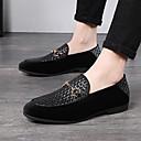 זול נעלי בד ומוקסינים לגברים-בגדי ריקוד גברים מוקסין סוויד / PU אביב קיץ / סתיו חורף יום יומי / בריטי נעליים ללא שרוכים שחור / כחול