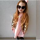 povoljno Jakne i kaputi za djevojčice-Djeca Djevojčice Osnovni Jednobojni Šljokice Odijelo i sako Zlato