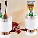 זול מחזיק מברשות שיניים-מחזיק למברשת שיניים יצירתי / רב שימושי עכשווי פליז 1pc מותקן על הקיר
