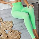 זול ביגוד כושר, ריצה ויוגה-בגדי ריקוד נשים מכנסי יוגה חזיית ספורט צבע אחיד כושר אמון תחתיות לבוש אקטיבי רך מיקרו-אלסטי רזה