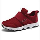 זול מוקסינים לנשים-בגדי ריקוד נשים פוליאסטר אביב נעלי אתלטיקה שטוח בוהן עגולה אפור / סגול / אדום