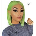 abordables Perruques Naturelles Dentelle-Perruque Cheveux Naturel Rémy Lace Frontale Cheveux Brésiliens Droit Vert Partie médiane Femme Densité 130% Doux Homme Meilleure qualité Grosses soldes Ligne de Cheveux Naturelle Court Vert Perruque