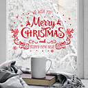 זול מיקרוסקופים ואנדוסקופים-חלון הסרט & מדבקות תַפאוּרָה פרחוני / חג מולד גיאומטרי / חג PVC מדבקה לחלון