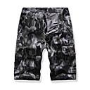 זול נעלי בד ומוקסינים לגברים-בגדי ריקוד גברים Military שורטים מכנסיים - צבע הסוואה אפור ירוק צבא חאקי 34 36 38