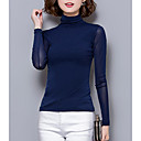 povoljno Biciklističke majice-Žene Jednobojni Dugih rukava Pullover, Dolčevita Jesen / Zima Navy Plava / Sive boje / Lila-roza XL / XXL / XXXL