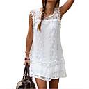 お買い得  ファッションピアス・イヤリング-女性用 プラスサイズ エレガント レース シフト フレア ドレス - レース, ソリッド ミニ