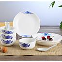 זול כלי אוכל-1set סטים לארוחות ערכת Chinaware כלי אוכל קרמי מקסים