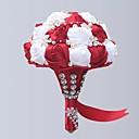 """זול פרחי חתונה-פרחי חתונה זרים חתונה / מסיבת החתונה עשוי משי גס / חרוזים / סגסוגת אלומיניום מגנזיום 11-20  ס""""מ"""