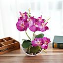 halpa Tekokukat-keinotekoiset kukat 1 haara klassinen moderni nykyaikainen ruusu pöytä kukka