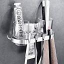 זול מחזיק מברשות שיניים-מחזיק למברשת שיניים יצירתי עכשווי אלומיניום 1pc - חדר אמבטיה מותקן על הקיר