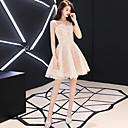 זול שמלות שושבינה-גזרת A כתפיה אחת קצר \ מיני תחרה נוצץ וזוהר מסיבת קוקטייל שמלה עם על ידי LAN TING Express