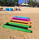 זול צעצועים לחתול-ספה מתנפחת חיצוני עמיד למים נייד מתקפל מתנפח טרילן 250*70 cm חוף קמפינג לטייל אביב קיץ כחול שחור מחוספס כחול ים