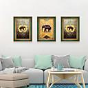 Недорогие Картины в рамах-Отпечаток в раме Набор в раме - Абстракция Животные Полистирен Иллюстрации Предметы искусства