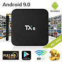 Недорогие Приставки TV Box-TX6 Smart TV Box Android 9.0 4K IPTV 4 ГБ DDR3 64 ГБ Emmc BT 4.1 Поддержка двойной Wi-Fi 2,4 Г / 5 ГГц YouTube H.265 Set Top Box