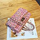 halpa Crossbody-laukut-Naisten Ketjuilla PU Yliolanlaukku Yhtenäinen väri Musta / Valkoinen / Punastuvan vaaleanpunainen