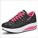 hesapli Kadın Sneakerları-Kadın's Spor Ayakkabısı Creepers Yuvarlak Uçlu PU Günlük Yaz Siyah / Kırmzı / Mavi