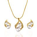 זול צמיד אופנתי-בגדי ריקוד נשים סטי תכשיטי כלה סגנון וינטג' מתוק אופנתי דמוי פנינה עגילים תכשיטים זהב עבור חתונה Party 1set