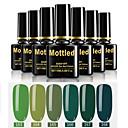 hesapli Tırnak ve Ojeler-6 adet renk 163-168 benekli ıslatma-off uv / led jel oje düz renk oje setleri