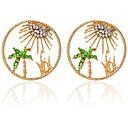זול עגילים אופנתיים-בגדי ריקוד נשים עגיל עץ קוקוס עגילים תכשיטים זהב עבור Party יומי רחוב חגים פֶסטִיבָל זוג 1