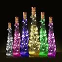 זול קישוט אורות-1pc בקבוק יין LED לילה אור לבן חם קישוט / מנורת אטמוספרה