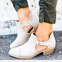 hesapli Kadın Sandaletleri-Kadın's Sandaletler Düşük Topuk Sivri Uçlu PU İlkbahar & Kış / Yaz Siyah / Kahverengi / Gri