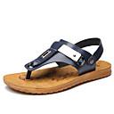 זול נעלי בית וכפכפים לגברים-בגדי ריקוד גברים נעלי נוחות סינטטיים קיץ / אביב קיץ סנדלים כחול כהה
