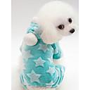 זול כלב ציוד טיפוח-כלבים חתולים סרבלים בגדים לכלבים דפוס ירוק כחול ורוד 100% פליס אלמוג תחפושות עבור אביב, סתיו, חורף, קיץ מקרי / ספורטיבי