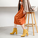 hesapli Kadın Botları-Kadın's Çizmeler Kalın Topuk Süet İlkbahar & Kış / Kış Sarı / Kırmzı / Mavi