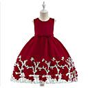 זול הדפסים-נסיכה באורך הקרסול שמלה לנערת הפרחים  - פוליאסטר / טול ללא שרוולים עם תכשיטים עם חרוזים / פפיון(ים) / תחרה על ידי LAN TING Express