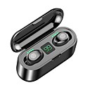 cheap TWS True Wireless Headphones-Z-YeuY F9 TWS True Wireless Stereo Earbuds IPX5 Waterproof Touch Mini Bluetooth 5.0 Charging Bin Stealth Sports High Sound Quality Noise Reduction