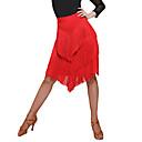povoljno Odjeća za latino plesove-Latino ples Donji Žene Trening / Seksi blagdanski kostimi Spandex / Šifon / polyster S resicama / S izrezom Prirodno Suknje