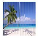 halpa Ikkunoiden verhot-euroopan uv-tulostus maisema-väri tarkka kosteutta kestävä verho olohuone varjostus polyesterikangas verho