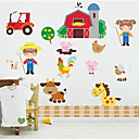 זול מדבקות קיר-מדבקות קיר דקורטיביות - מדבקות קיר מטוס 3D חדר שינה / חדר ילדים