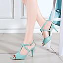 hesapli Kadın Sandaletleri-Kadın's Sandaletler Stiletto Topuk Burnu Açık Toka Suni Deri Günlük / Minimalizm Yürüyüş Yaz / İlkbahar yaz Siyah / Mavi / Pembe