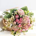 זול פרחים מלאכותיים-פרחים מלאכותיים 11 ענף קלאסי מודרני פרחים נצחיים פרחים לשולחן