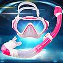 halpa Märkäpuvut, sukelluspuvut ja suoja-asut-Snorklaussetit Sukellus Paketit - Sukellus maski Snorkkeli - Sumua hylkivä Universaali Kuiva snorkkeli Uinti Sukellus Silkonikumi Karkaistu lasi PC  varten Lapset
