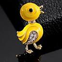 hesapli Moda Broşlar-Kadın's Broşlar Ördek sevimli Stil Broş Mücevher Sarı Uyumluluk Günlük