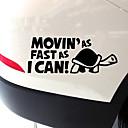 זול רכב הגוף קישוט והגנה-movin's מצחיק מהר ככל שאני יכול דפוס מדבקת אזהרה רעיונית לרכב