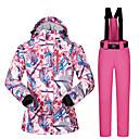 povoljno Skijaška i snowboard odjeća-MUTUSNOW Žene Skijaška jakna i hlače Vodootporno Vjetronepropusnost Toplo Skijanje Snowboarding Zimski sportovi Poliester Sportska odijela Skijaška odjeća