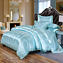 povoljno Luksuzni poplune-europski satenski žakard čipkasti plahti 4 komada posteljina