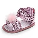 זול Kids' Flats-בנות צעדים ראשונים PU סנדלים תינוקות (0-9m) / פעוט (9m-4ys) זהב / כסף / אפרסק קיץ