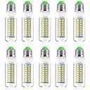 povoljno LED klipaste žarulje-10pcs 13 W LED klipaste žarulje 1300 lm E14 GU10 B22 T 89 LED zrnca SMD 5730 New Design Toplo bijelo Bijela 220-240 V 110-120 V