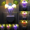 halpa Koristevalot-uutuus sienen sieni yövalo eu& meille pistoke valo anturi 220v 3 johti värikäs sieni lamppu johti yövalot