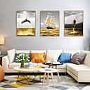 halpa Kehystetty taide-Kehystetty taidepainate Kehystetty setti - Maisema Eläimet Polystyreeni Illustration Wall Art