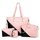 povoljno Komplet torbi-Žene Patent-zatvarač PU Bag Setovi Color block 4 kom Braon / Blushing Pink / Red